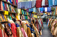 Inside a Fabric Shop