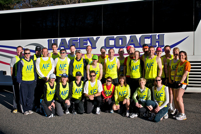 Boston Marathon Runners on my coach